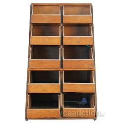 Interior Wood 10 Drawer Country Store Case - 17  x 20