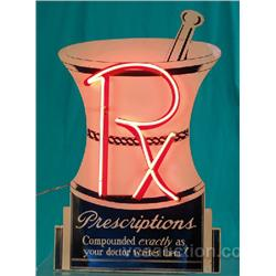RX Prescriptions Tin & Neon Sign,