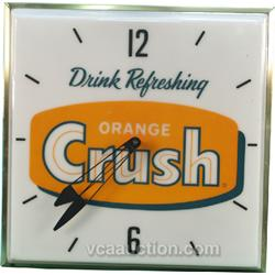Orange Crush Pam Clock