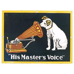 "RCA ""His Master's Voice"" Porcelain Sign - 16"" x 12"""