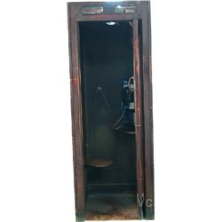 "Wood Pay Phone Booth w/ Bell South Telephone - 31"" x 31"