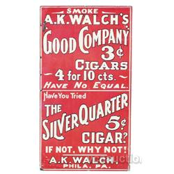 Lot Of 3 Cigar Tin Signs,