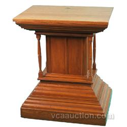 "Fancy Oak Victorian Pedestal - 26"" x 20"" x 31"" tall"