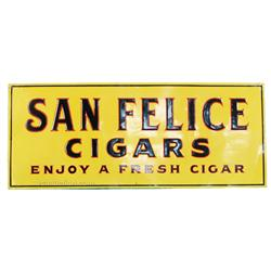 San Felice Cigars Embossed Tin Sign
