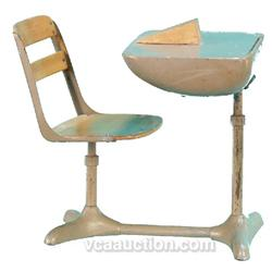 Salesman Sample School Desk & Chair c1950's - 60's