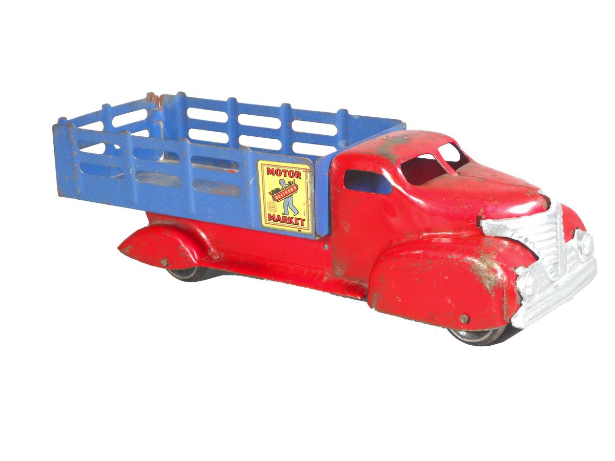 Marx Motor Market Delivery Toy Truck