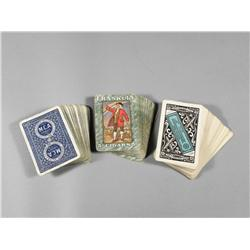 3 cigar advertising playing card decks