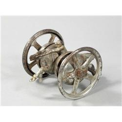 Nickel Plated Cast Iron/Tin Bell Toy