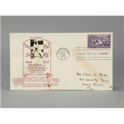 1939 Baseball Centennial Envelope Cover