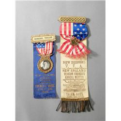 "Lot of two Muster ribbons ""New Bedford"""