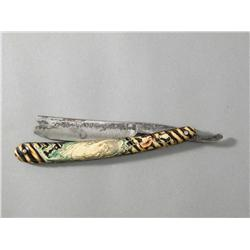 Celluloid Handled Straight Razor with Nude