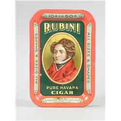Rubini Cigars Tin Tip Tray