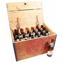 Pabst Blue Ribbon Beer Wood Crate/21 bottles
