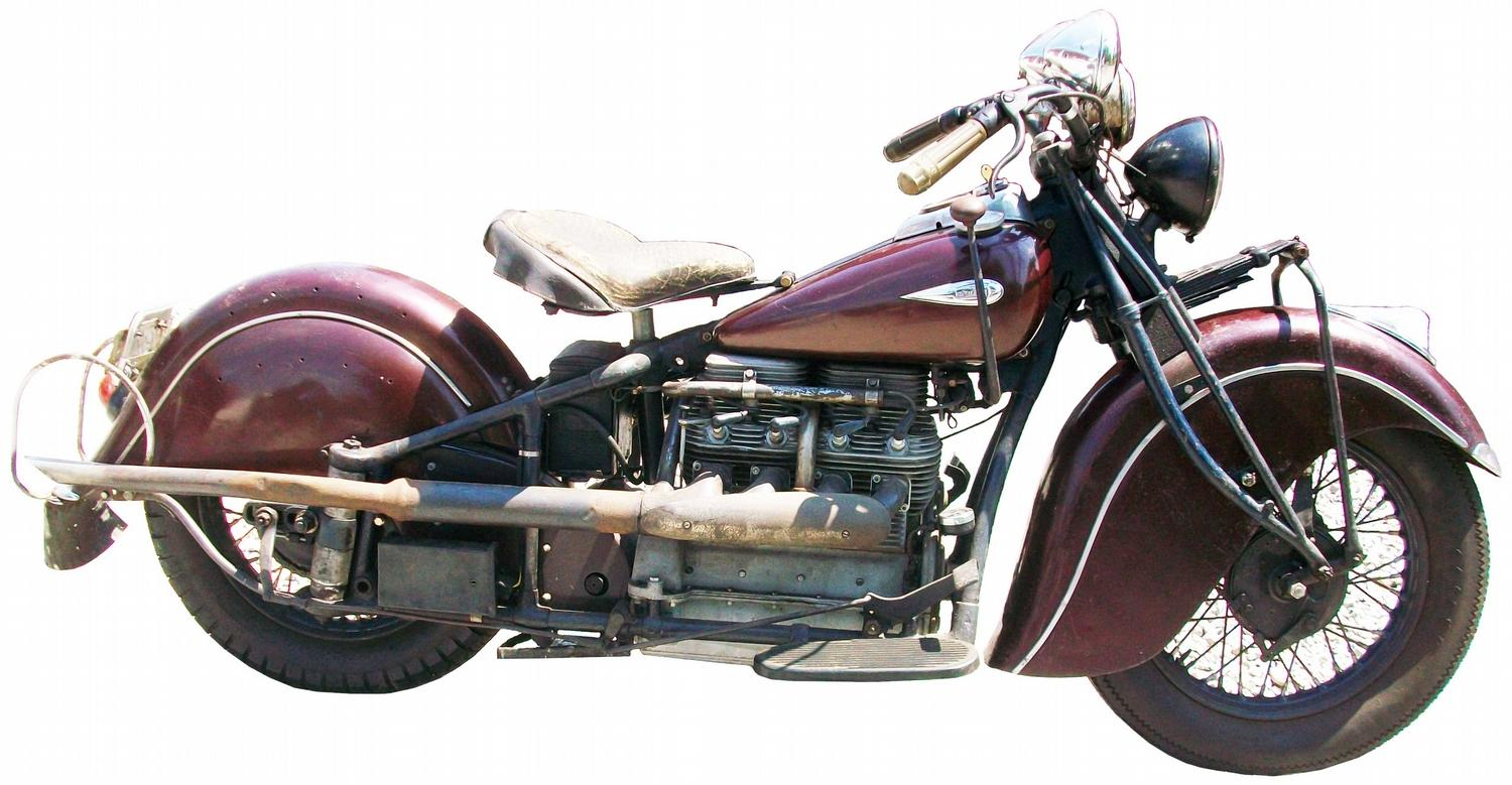 1940 Indian Four 4 Motorcycle MAGAZINE ARTICLE - 1963