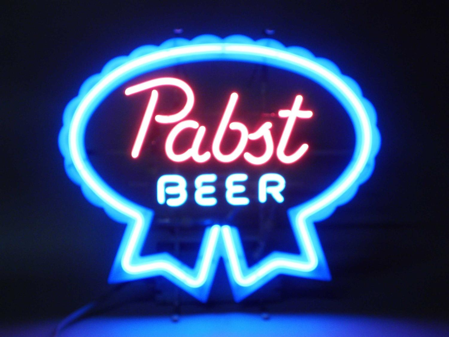 Image 1 Pabst Blue Ribbon Beer Neon Sign W