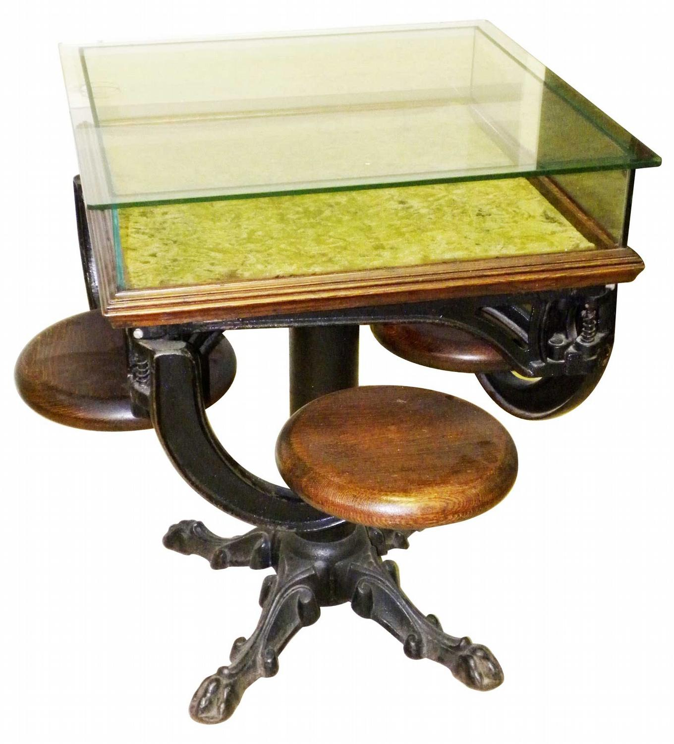 Charmant Ice Cream Display Table With Swing Out Stools. Loading Zoom