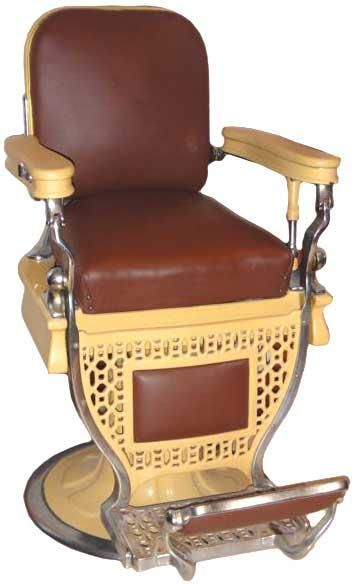 Image 1 : A. Koch Barber Chair. Mustard Color Porcelain