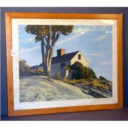 C.K. CHATTERTON HOUSE ON THE CLIFFS PRINT