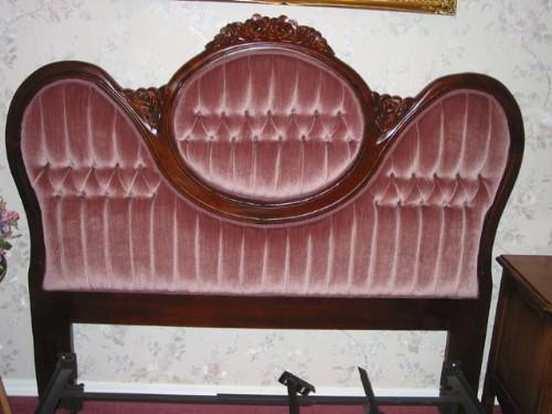 Victorian Double Bed Headboard In Solid Hand Carved Mahogany W