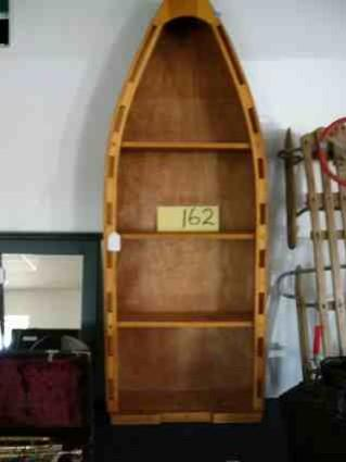 Row Boat Shaped Bookcase