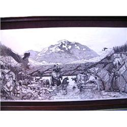 Alaskan Treasures   Laser Etching done by Washington Mint 1978, John Wills, Signed and Numbered 120