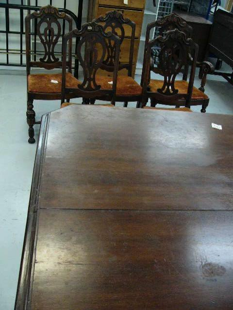 Charmant Image 1 : Lot Of American Walnut C.1930 Dining Room Table With One Leaf ...