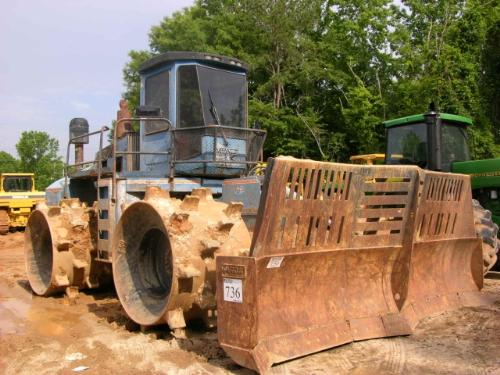 Aljon Landfill Compactors : Al jon k big blue landfill compactor j m wood auction