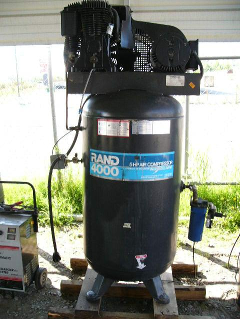 Rand 4000 5 Hp Air Compressor By Ingersoll Rand 1