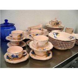 Beautiful set of Shell Pink Ware dishes Limoges China from Sebring, Ohio- 51-pieces (31)