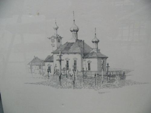 Russian Church Drawing of Russian Orthodox Church