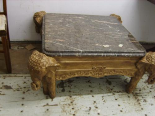 outrageous marble top four elephant coffee table 254