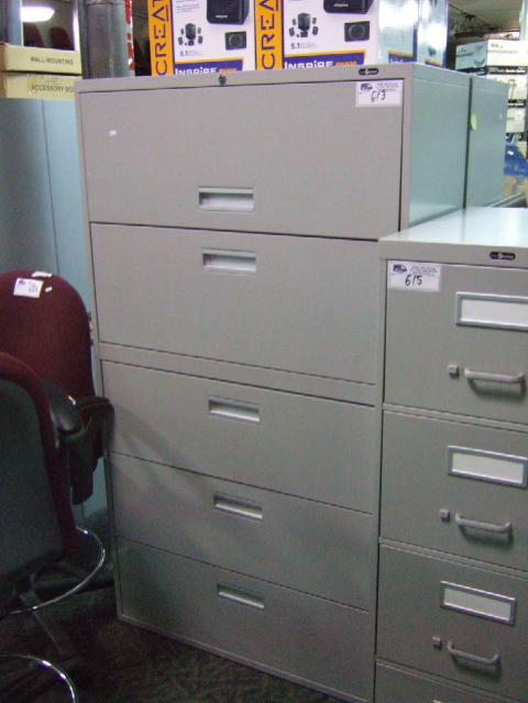Image 1 : Grey Pro Source 5 Drawer Lateral File Cabinet