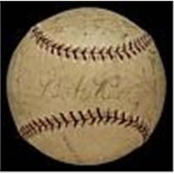 1927 NY Yankees Team Signed Baseball (World Champions) (JSA)