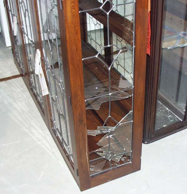 China Cabinet (broken glass on right side)