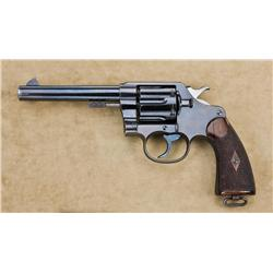 "Colt New Service Model 1909 U.S. Marine Corp DA revolver, .45 cal., 5-1/2"" round barrel, blue finish"
