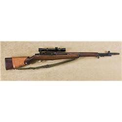 "U.S. Springfield MC-1 Sniper Garand semi-auto rifle, .30 cal., 24"" barrel with muzzle break, Parkeri"