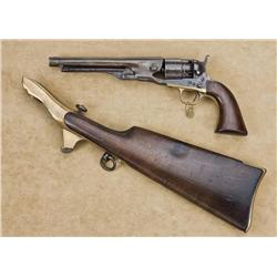 "Colt Model 1860 Army revolver with matching shoulder stock, .44 cal., 8"" round barrel, blue and case"