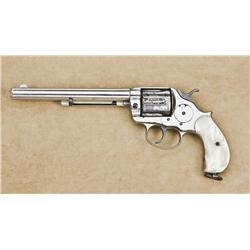 1878 Colt Revolver http://www.icollector.com/Colt-Model-1878-DA-revolver-38-Colt-cal-7-1-2-barrel-nickel-finish-thick-period-pearl-grips_i8788011