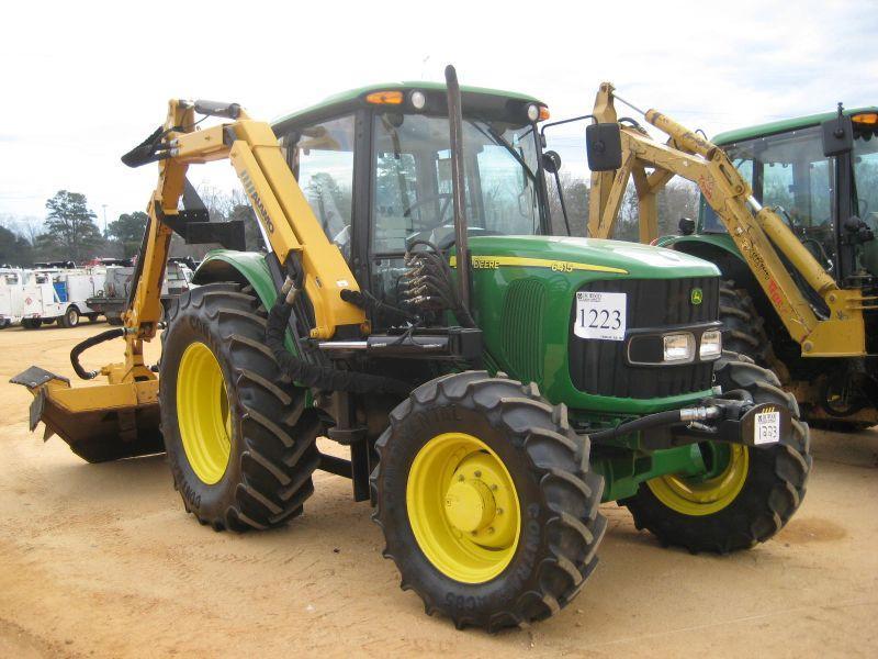 John Deere 6415 4x4 Farm Tractor W Side Boom Mower