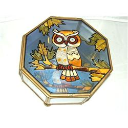 Octagon Owl Keepsake Box