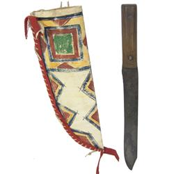 Parfleche Sheath & Old Knife