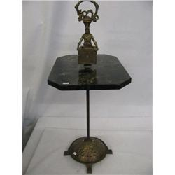 Pirate Iron & Marble Smoking Stand