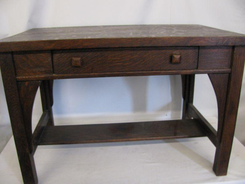 - Mission Oak Library Desk