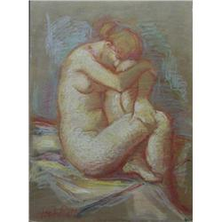 Jan De Ruth, Untitled Nude, Signed Oil on Board