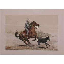 Mel Hunter, Quarter Horse, Signed Lithograph
