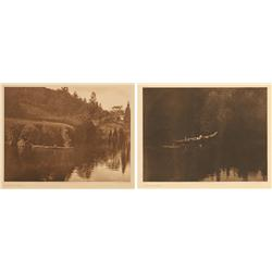 Edward S. Curtis, two photogravures on vellum. Plates 290 & 291