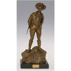 "Carl Kauba, bronze, 19"" x 9"" x 6"", The Hunter"