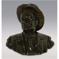 "Robert Scriver, bronze, 1973, 5"" x 6"" x 4"", Charlie. Cowboy Artists of America."