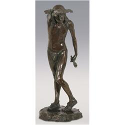"Louis Potter, bronze, 29"" x 20"" x 10 1/2"", Dancing Medicine Man"