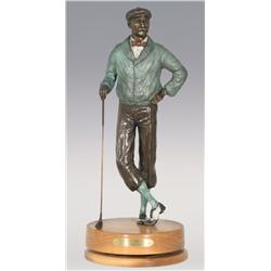 "Jerry Snodgrass, bronze, 1995, 21 1/2"" x 8 1/2"", Tee Time"